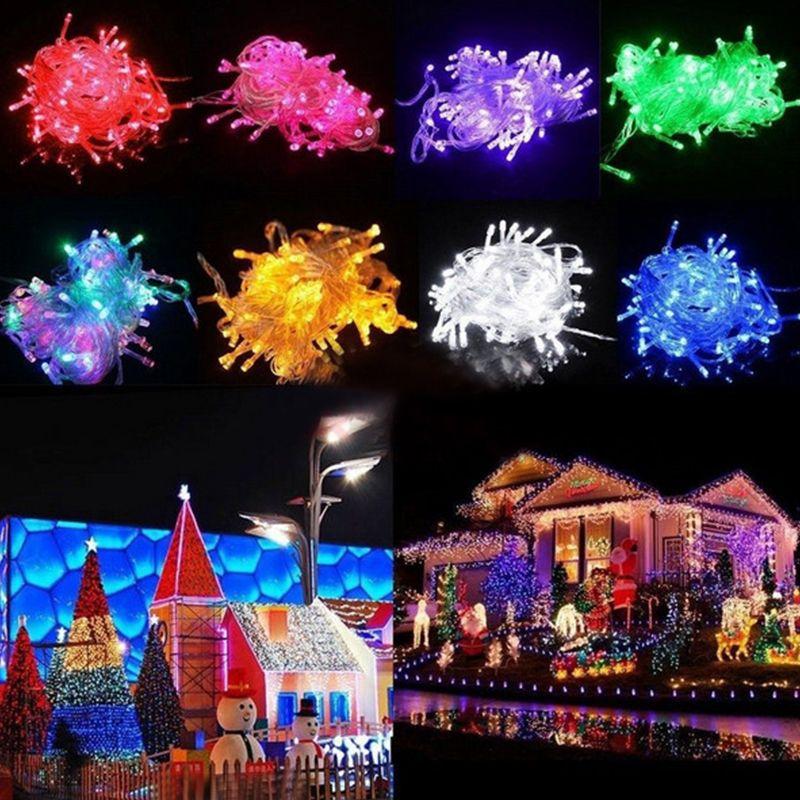 문자열 주도 크리스마스 100 LED 스트링 장식 빛 110V 220V를 들어 파티 웨딩 휴일 조명 주도 미친 판매 10M / PCS 조명