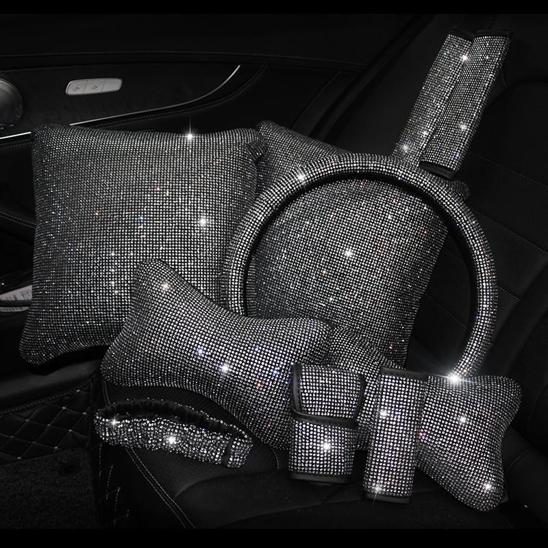 Bling strass cristal voiture accessoires intérieurs Diamond dirigeant couvercle couvre encadrement coloris de la taille de la taille de carton