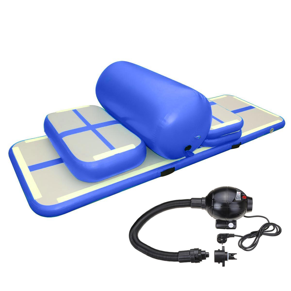 Freies Verschiffen Freie Pumpe Aufblasbare Luftkissenbahn Set Top Qualität Fitnessgeräte Für Gymnastic Inflatable Airtrack Training Set Mit Niedrigem Preis