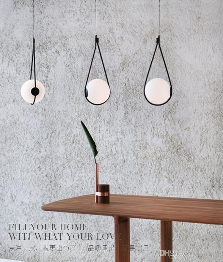 Nordic Стеклянный шар Абажурный подвесной светильник для прикроватной лампы Dinning Table Chaenglamp Италия дизайнер свет подвеска светильник