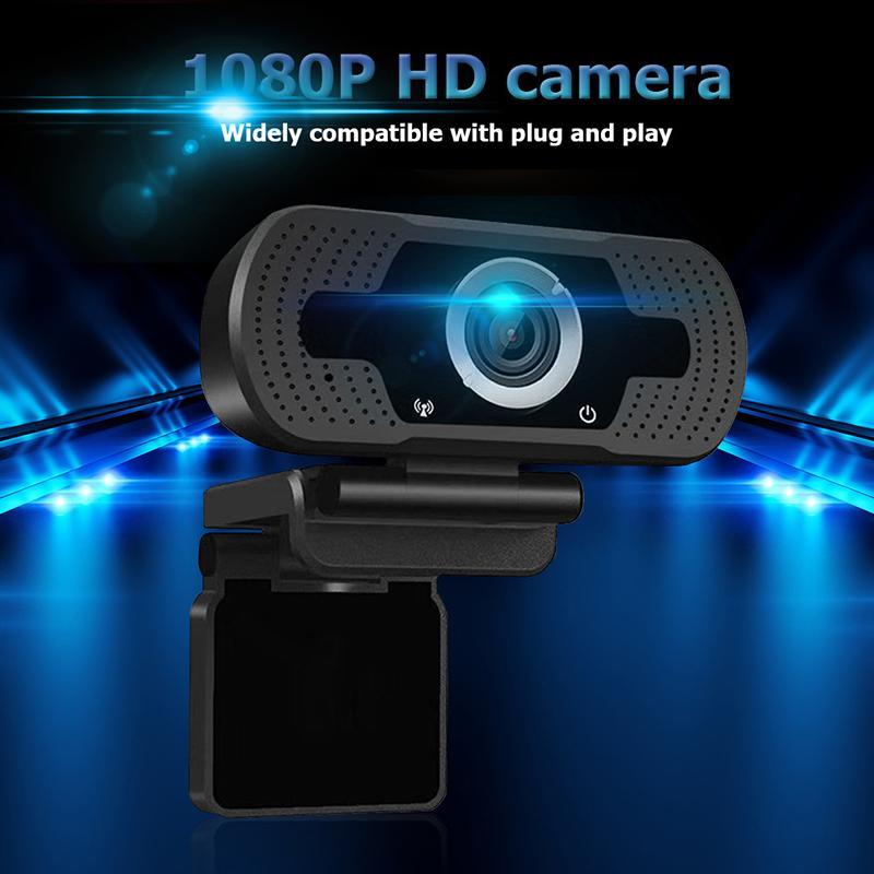 Webcam USB HD 1080P per computer portatile per computer 2MP Videocamera di alta linea webcams webcams con microfono di riduzione del rumore con scatola al minuto