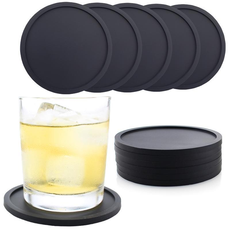Creative Waterproof Round Silicone Coaster Household Durable Heat Resistant Cup Mats Thickening Silicone Coasters Customizable DBC BH3487