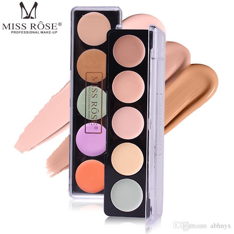 Палитра тонального крема Miss Rose 5 цветов корректирующая контурная палитра основа для лица maquiagem Hide Coverage BB крем