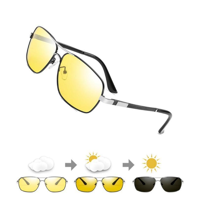 Visione notturna occhiali polarizzati Uomini Donne Anti-Glare Lens occhiali da sole giallo Night Vision Goggles per la guida auto Nocturna