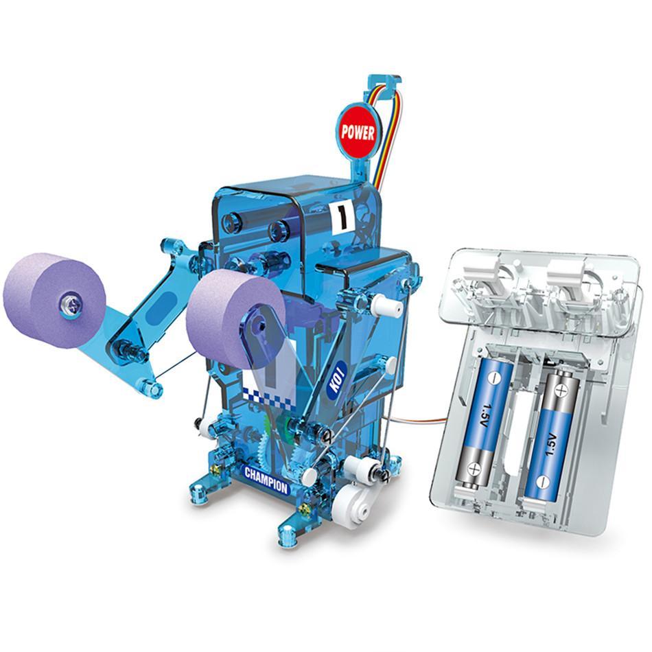 DIY Boxe lutador Self-Assembled Figuras robô eletrônico RC Brinquedos Educativos Kit remoto Partido Controle do boneco de acção 5-7 anos