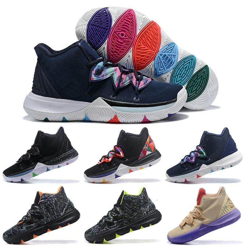 Kyrie 5 Pe Hommes Chaussures de basket Irving 5s Ikhet Bred Taco Ikhet Entraîneur Hommes Black Magic Galaxy Sport Chaussures 7-12