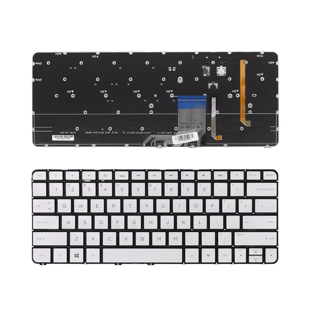 Yeni Laptop Klavye HP Spectre 13-3000 13T-3000 Serisi Arkadan aydınlatmalı ABD Layout Onarım Klavye