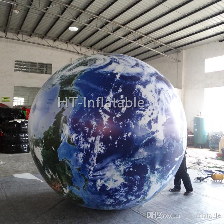 شحن مجاني 3M العليا نفخ الكواكب الكرة للدعاية والإعلان، عملاق نفخ الأرض غلوب بالون لحماية البيئة