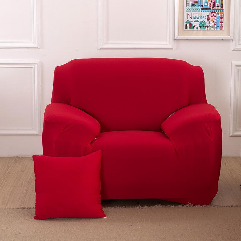Сплошной цвет Диван Чехол Non Скольжение Упругие диван наволочки мягкие удобные дышащий моющийся Couch Обложка для гостиной DBC VT0912