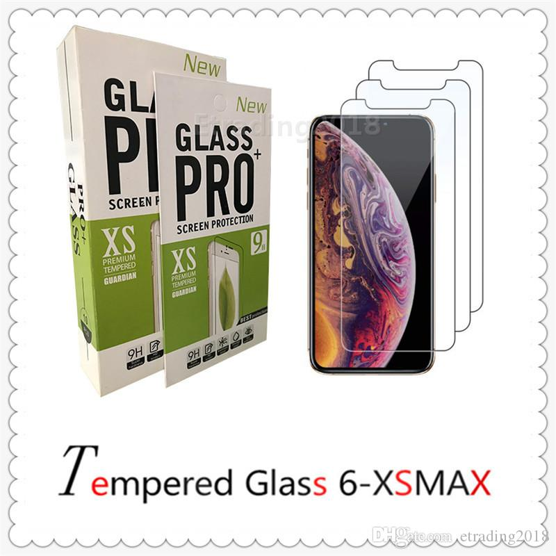 For iPhone X Xr Xs Max 8 7 6S Plus Tempered Glass Screen Protector 9H 2.5D Anti-shatter Film