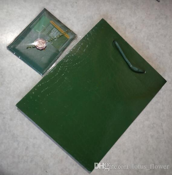 الشحن مجانا حار فقط حمل حقيبة الأصلي وبطاقة! العلامة التجارية الجديدة ووتش الخضراء الأصلية هدية مربع مربع هدية مربع التعبئة والتغليف