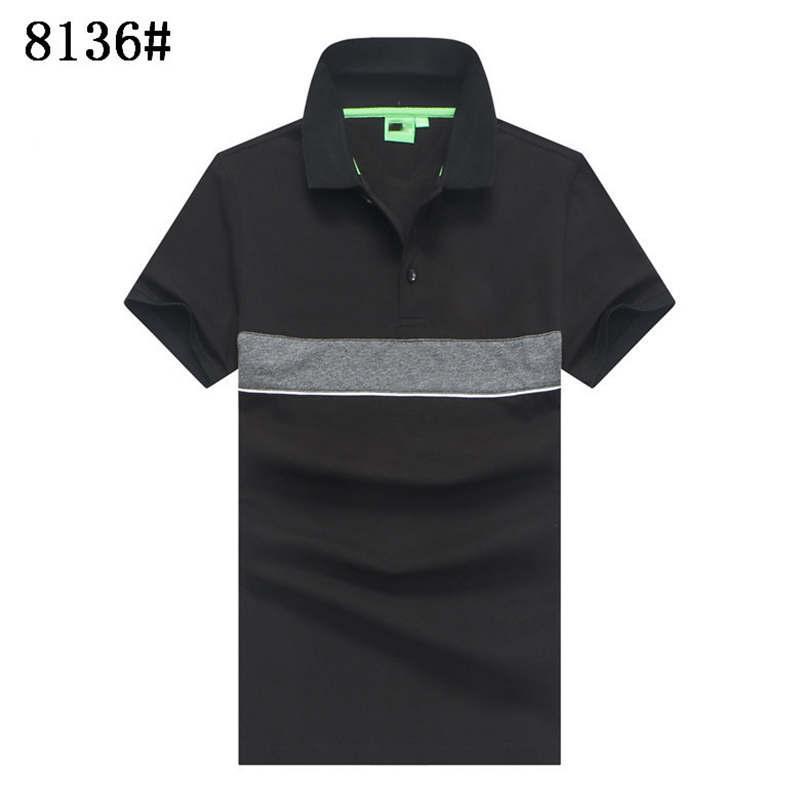 Designer Herren Polos Sommer Luxus-Polo für Männer weichen T-Shirts mit Stickerei Marke Striped Ansatz fester Kleidung M-3XL2