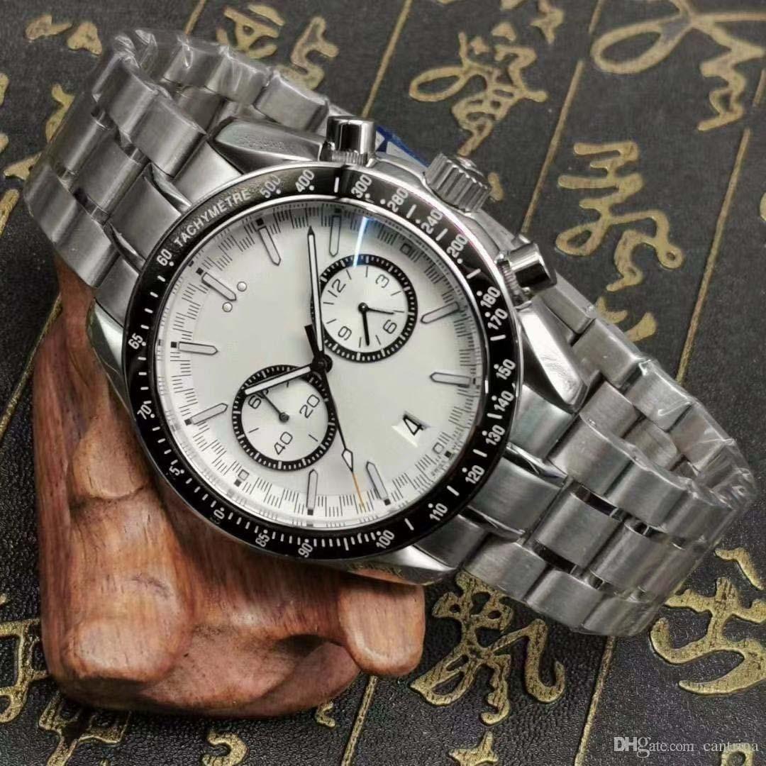 2020 Quarzuhr vk bewegung see materuhren männer uhr stahl armbanduhren chronograph watch Alle Funktion funktionieren gut
