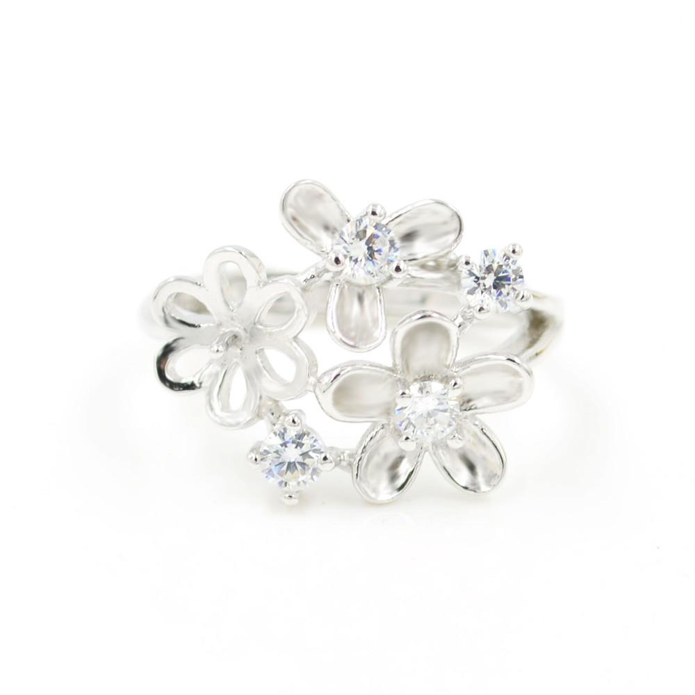 S925 стерлингового серебра кольцо крепления Циркон Фея кольца крепления для женщин ювелирные изделия из жемчуга diy бесплатная доставка регулируемый открытие кольцо