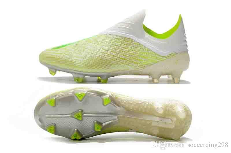 Chaud SHOW wateproof X 18+ 18.1 FG Football Hommes Football Salah Jesus Chaussures 18 + x Bottes De Football Chaussettes De Football Taille US6.5-11