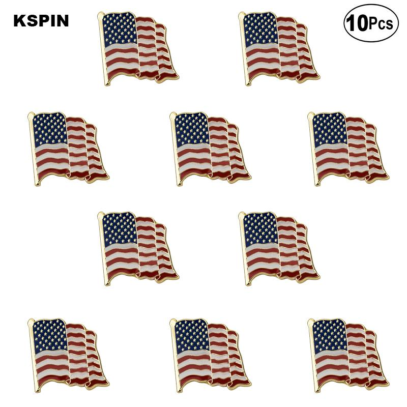 U.S.A. Fly-Form-Flagge Revers Pin Flagge Abzeichen-Brosche Abzeichen 10st eine Menge