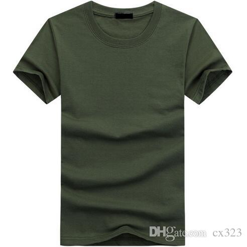 2019 Yüksek Kalite Moda Erkek T Shirt Rahat Kısa Kollu T-shirt Erkek Katı Rahat Pamuk Tee Gömlek Yaz Giyim 5XL