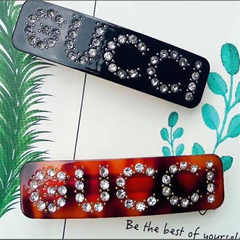 Maré Marca Meninas Grampos de Cabelo Carta de Moda Ornamento Do Diamante Mulheres Presilhas Partido Banquete Design Senhora Jóias Cabelo