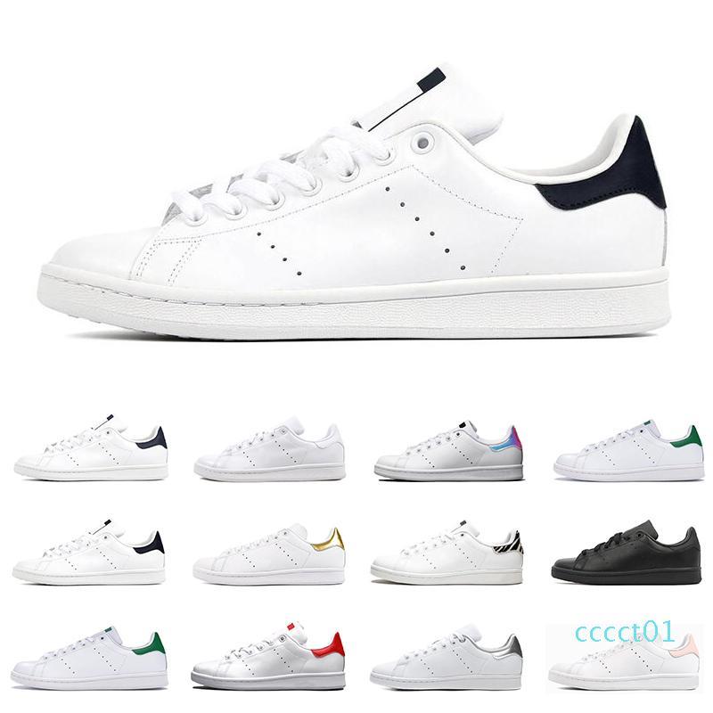 2020 smith uomini donne scarpe da tennis piane verde nero bianco blu navy Oreo arcobaleno stan mens moda allenatore scarpe sportive all'aperto dimensioni 36-44 CT01