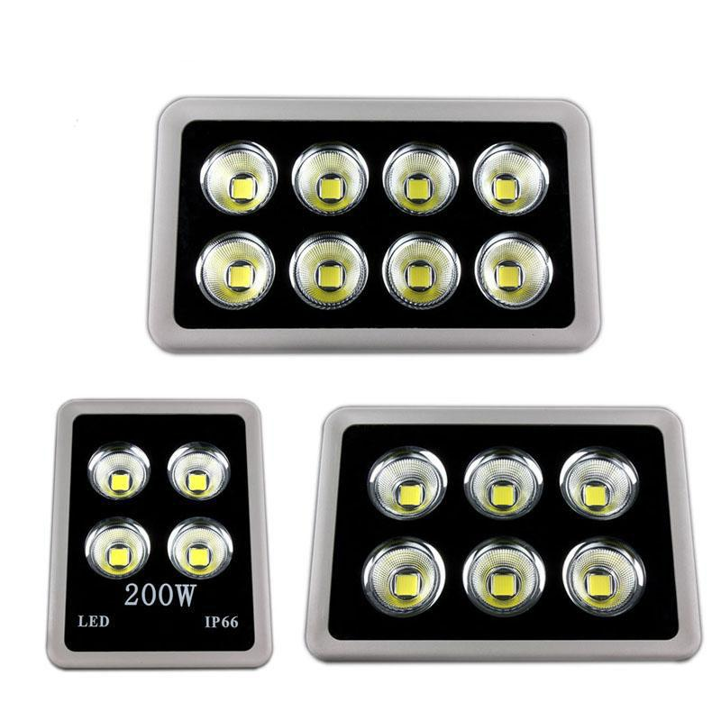 Süper parlak LED COB AC85-265V LED 200W / 300W / 400W COB LED Spotlight Dış Aydınlatma floodlights