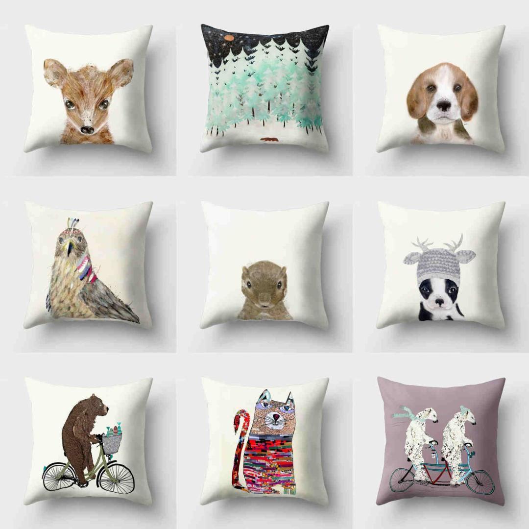 Pillow Cushion Cover 18/'/' Home Throw Waist Sofa Case Polyester Decor