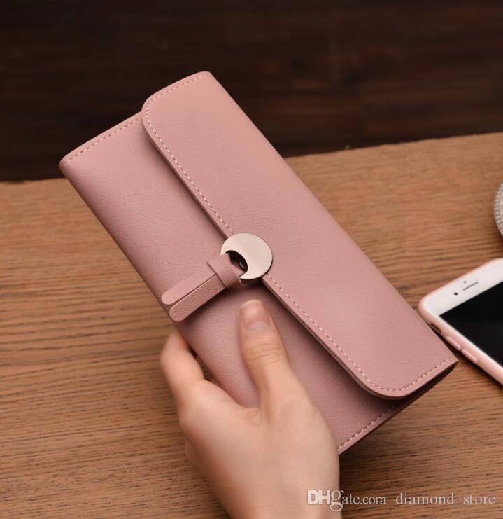 Европа и соединенные штаты тенденция дамы длинный кошелек мода пряжка мульти-карты кошелек сумка бесплатная доставка