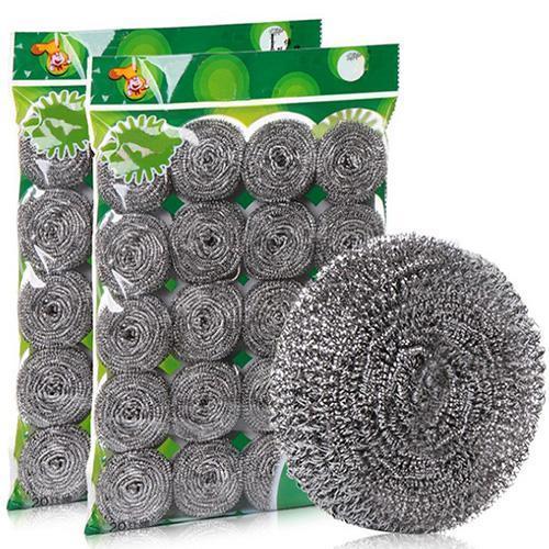 Cozinha de lavagem em aço inoxidável pote doméstico armazém prato descontaminação de lavagem limpo fio de arame bola lã de aço grande