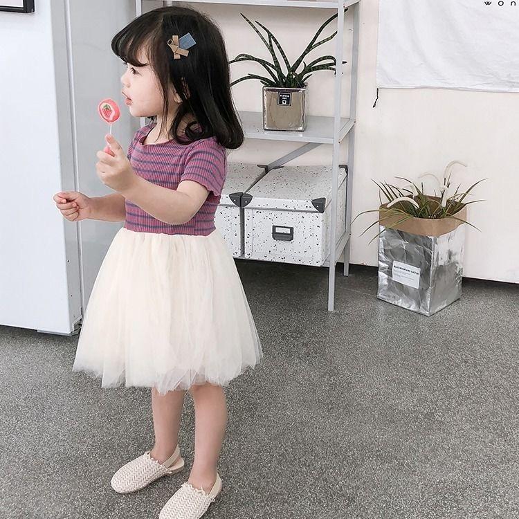 جديد 2020 فساتين الفتيات اللباس الحياكة قصيرة الأكمام فستان الأميرة أطفال للبنات عيد ميلاد الحزب مساء الرباط ملابس الأطفال