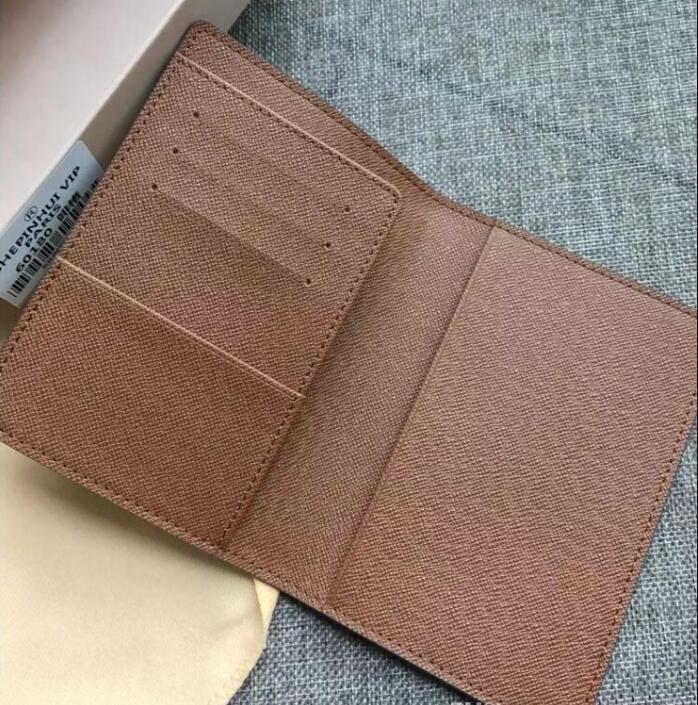 Designer-Ausgezeichnete Qualität NM Damier Graphit M60502 Männer Frauen aus echtem Leder Mappen-Kartenhalter Geldbeutel AUSWEISETUI bifold Taschen Passport # 852