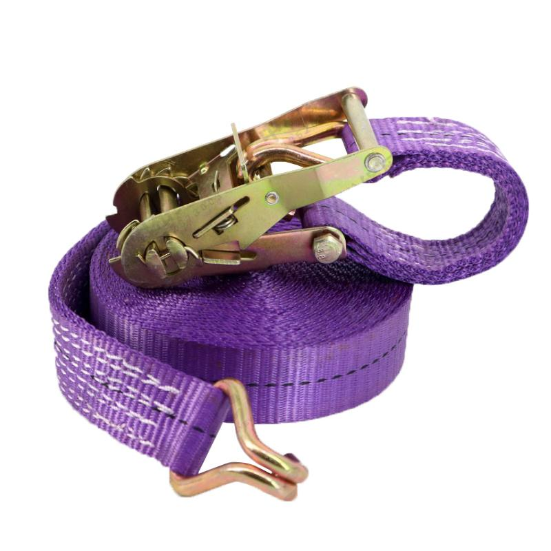 5M*38mm-20M*38mm Car Tension Rope Tie Down Strap Strong Ratchet Belt Luggage Bag Cargo Lashing With Metal Buckle