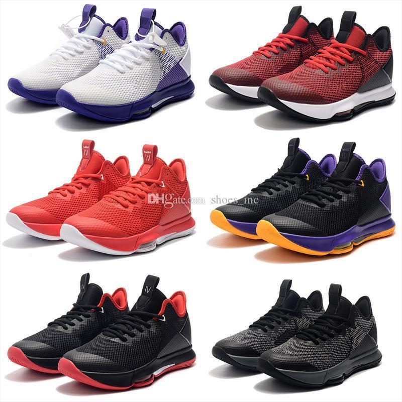 2019 новый Джеймс свидетель IV 4 Лейкерс черный фиолетовый желтый баскетбольная обувь для мужчин чистая поверхность дышащие спортивные кроссовки тренеры размер 40-46
