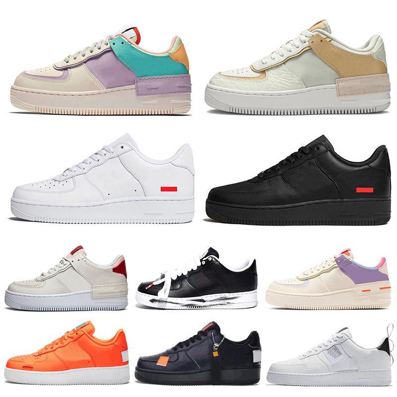 supreme Nike Air Force 1 AF1 One Forces 1 Dunk أحذية X الرجال والنساء الاحذية الكلاسيكية الثلاثي الأبيض الأسود الاستوائية تويست رجل مدرب أحذية رياضية 36-45