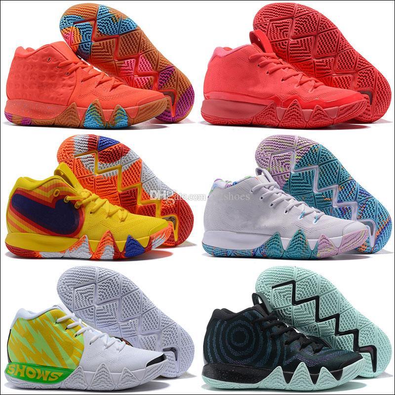 2019 осень 4 Обувь баскетбол Mens Дешевые Продажа Кирие Спортивная обувь Wolf Gray Team Red Кроссовки Баскетбольная обувь дизайнерские кроссовки