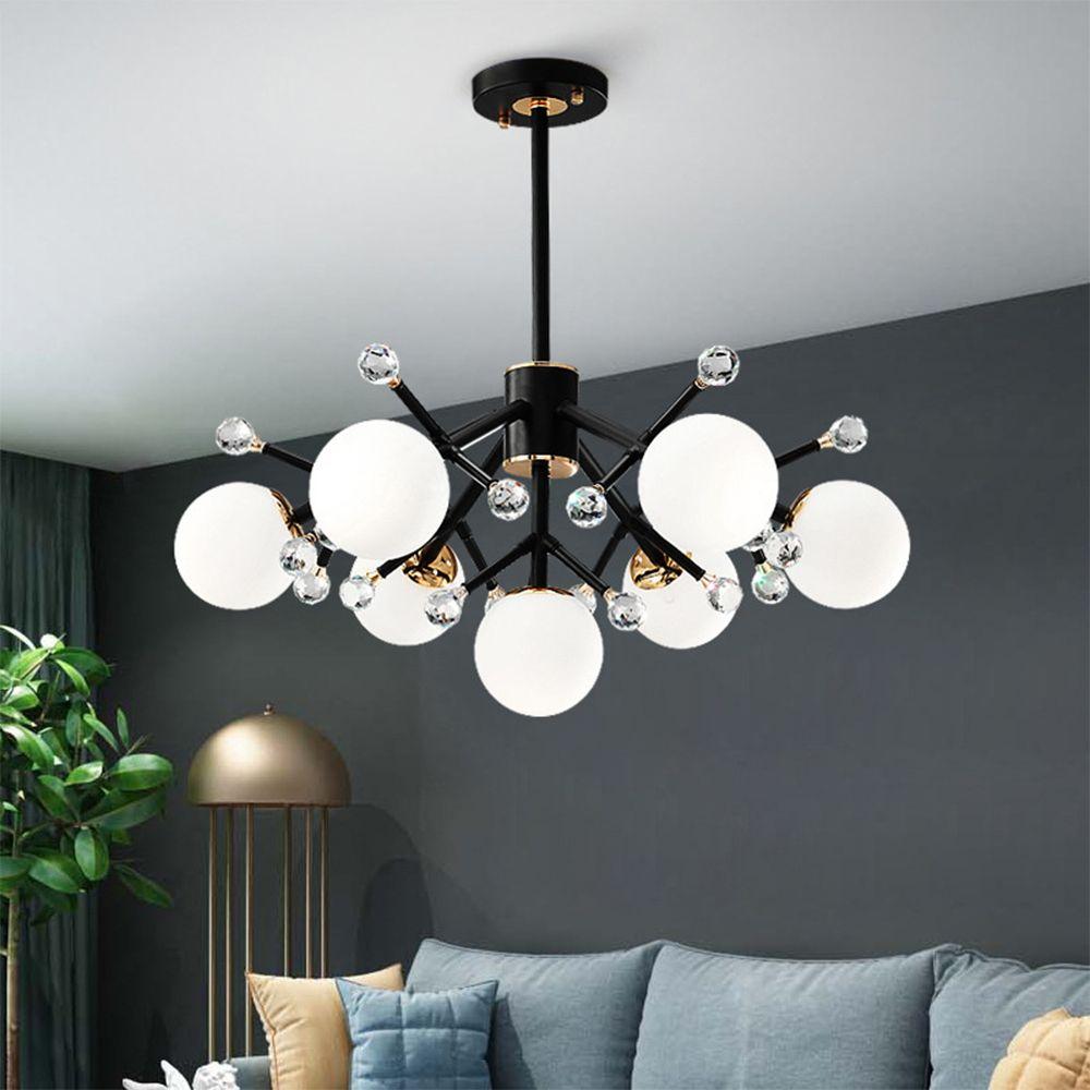 Großhandel Moderne Nordic Art Deco Kugel Led Schwarz Weiß Rot Decke  Hängenden Kronleuchter Beleuchtung Lampe Für Haus Küche Wohnzimmer Loft