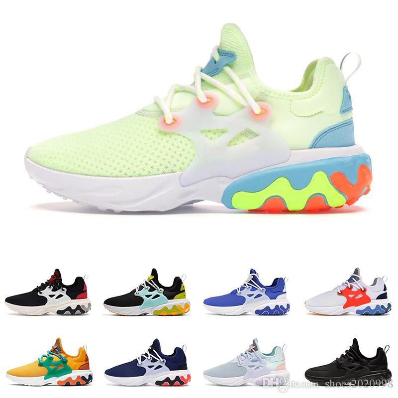 Free Shipping Designer Marca Sapatos Casuais reagem Presto aos homens mulheres Triple Black Teal Tint mens trainer Sports sneakers outdoor 36-45