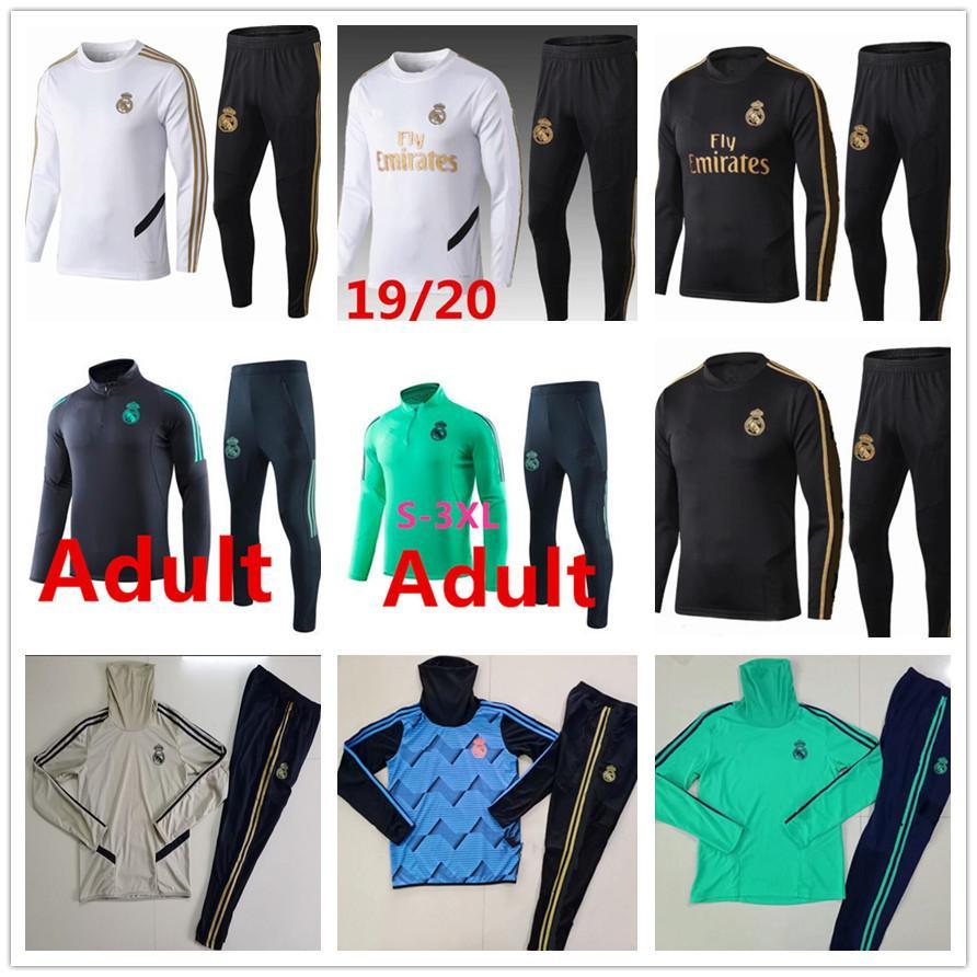 2019 2020 ريال مدريد رياضية رجال رياضية بدلة رياضية لكرة القدم 2019 2020 تدريب الكبار دعوى لكرة القدم قميص رياضية