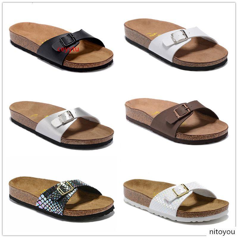 Boken Мадрид Новый летний пляж Корк Трусы Вьетнамки Сандалии Женщины смешанный цвет Повседневный Слайды обувь Flat 801 Бесплатная доставка US3-10