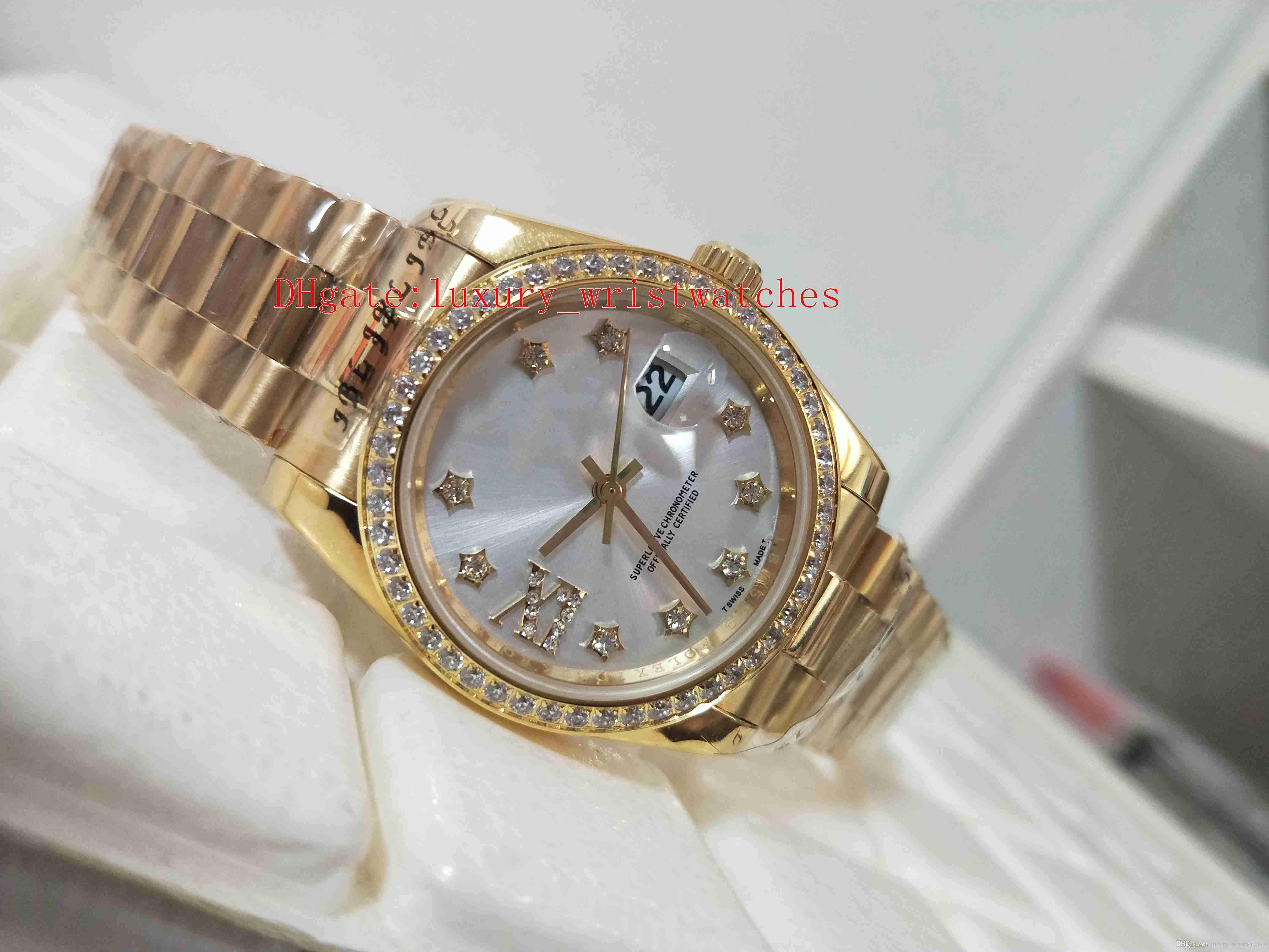 Excellent High quality watch Datejust Pearlmaster 81298 36mm 31mm Diamond Asia 2813 Movement Mechanical Automatic Ladies Women's Watches
