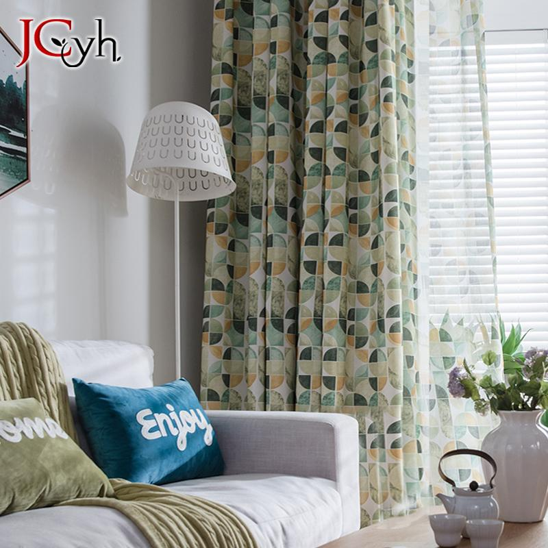 2020 Modern Minimalist Curtains For Living Room Ready Made Green