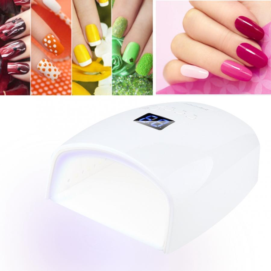 Le temps de lampe UV de lampe à ongles UV de capteur intelligent fixant 48W 30pcs allume la lampe de manucure de perles 100-240V