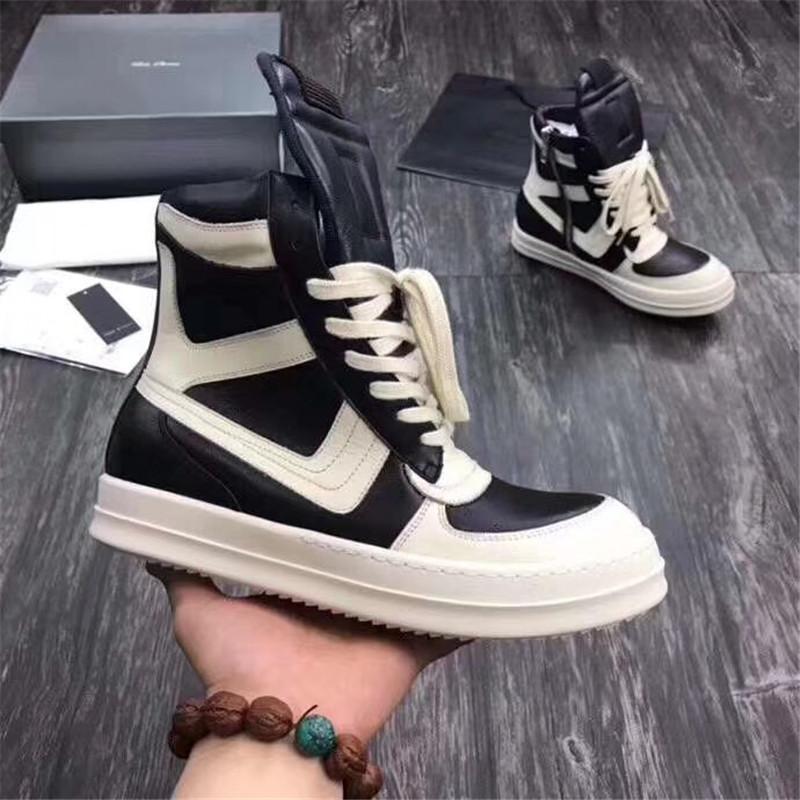 2020 heißen Männer Schuhe Mode-Winter-Männer Stiefel Herbst Leder Schuhe für Mann Neue High Top Freizeitschuhe Männer 12 # 22 / 20D50