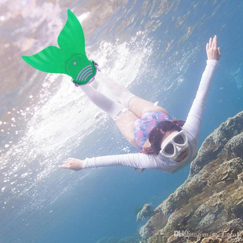 Kids  Mermaid Swimming Dive Monofin Swimmable Tails Fin Training Flipper