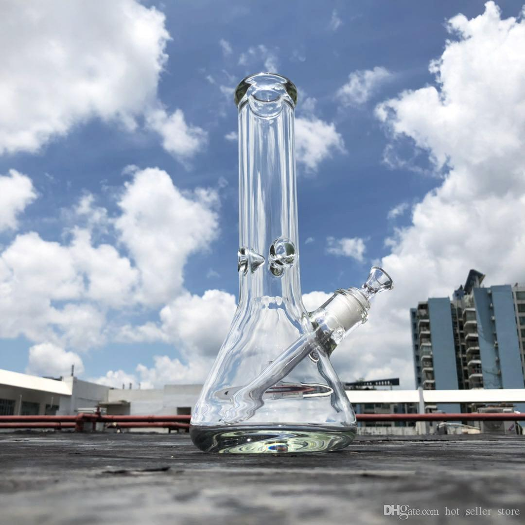 todo o tamanho 7 milímetros 9 milímetros de água de vidro bong grande plataforma de petróleo dab bubbler de altura copo de espessura tubo de água de vidro super pesado com joint elefante