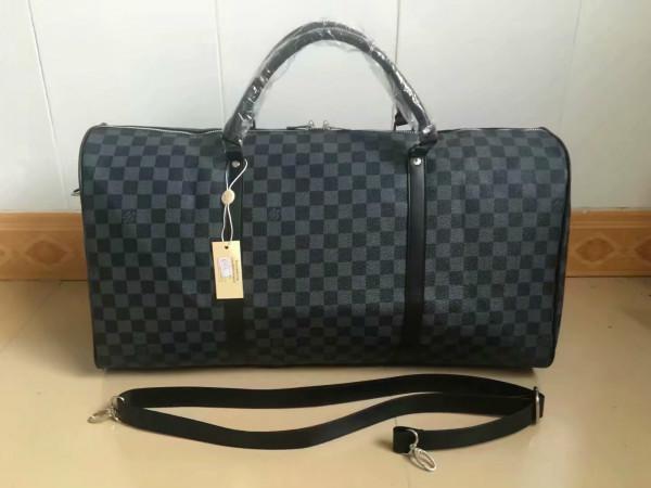 55 cm büyük kapasiteli erkekler kadınlar ünlü klasik sıcak satış yüksek kaliteli erkek omuz spor çanta luggage18 devam çanta seyahat