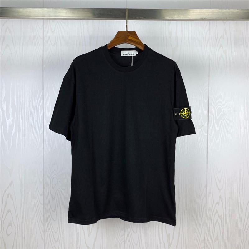 2020 populares logotipo de la ropa de los hombres nueva camiseta impresa alrededor del cuello de la blusa de la juventud artística camiseta W16