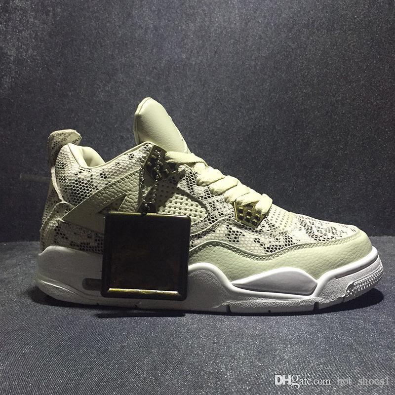 Air 4 Premium Snakeskin 819139-030 4s IV Serpenti Scarpe Kicks di pallacanestro degli uomini di sport scarpe da tennis di buona qualità di formatori con la scatola originale