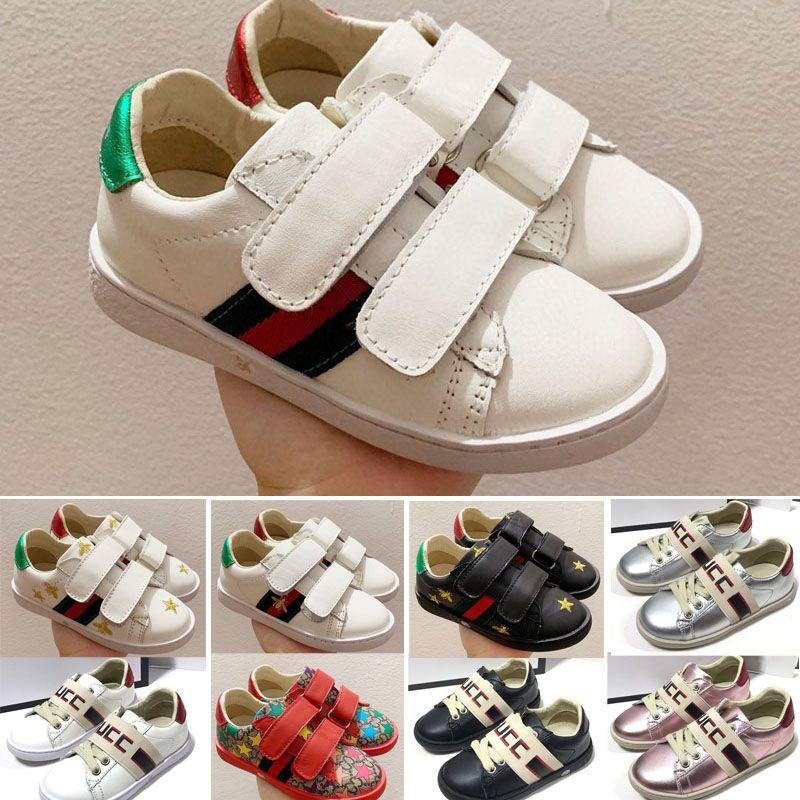 Bee Stripe Low Casual Trainer Children Boy Girl Kids Skate Sneaker Fashion Sport Shoes size24-35