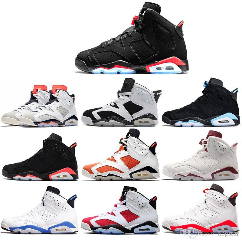 6 basketball shoes Classic 6s UNC black red white infrared low chrome women men sport blue red oreo alternate Oreo 40-47