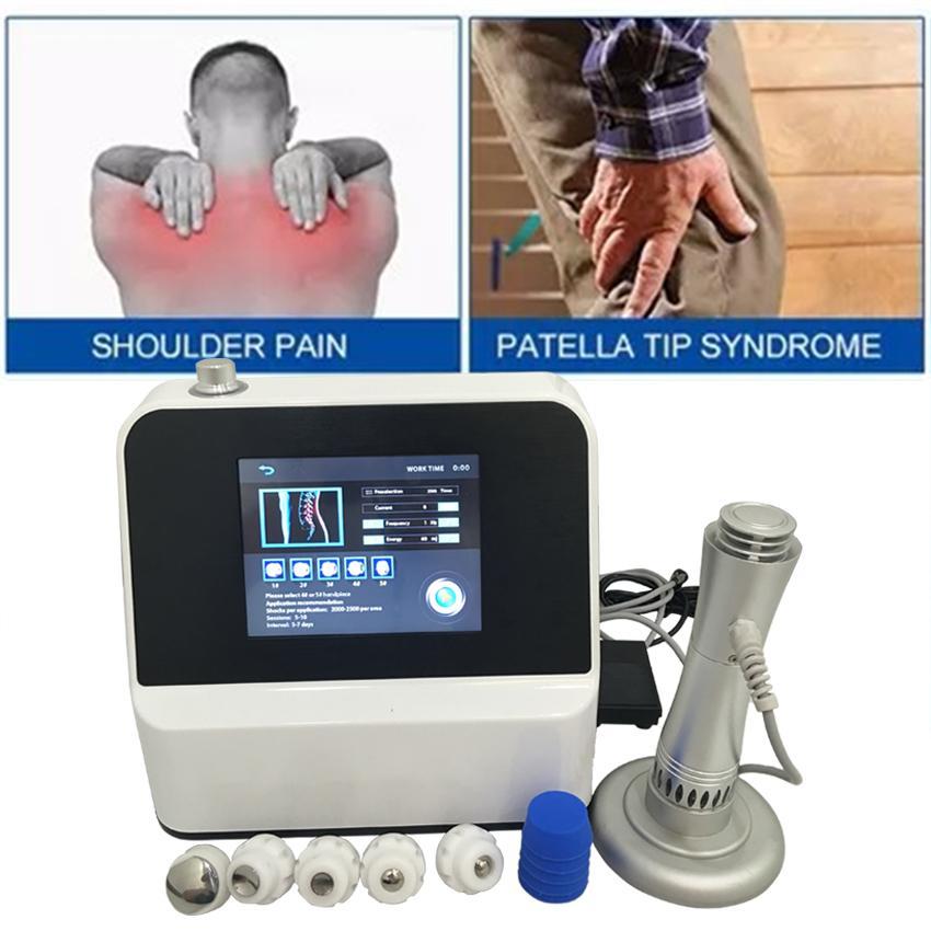 Neue bestes Ergebnis Heißer Verkauf bestes Ergebnis Protable Weiß Stoßwellentherapie Maschine CE Zulassung Tragbarer Stoßwellentherapiegerät Schmerzen lindern