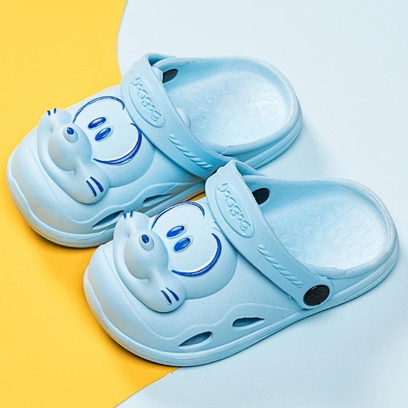 Sommer-Kind-Kind-Baby-Jungen-Karikatur Sport Strand Slipper Schuhe Sandale Slipper Vietnam Kunststoff Anti-Rutsch dicke Kruste Schein